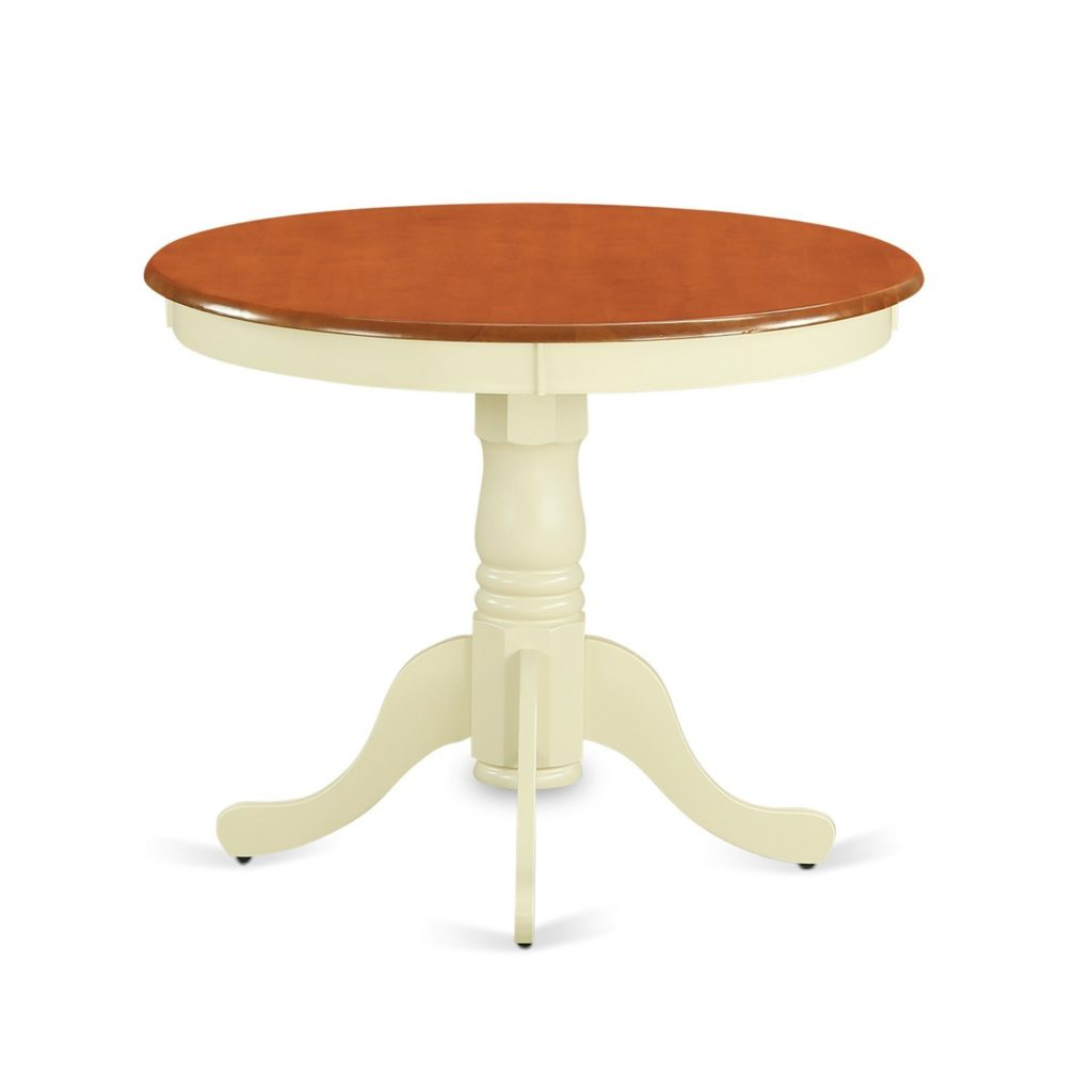 ANT-WHI-T Round Table by East West Furniture